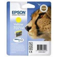 Тонер Epson чернила T0714 жёлтый DURABrite |...