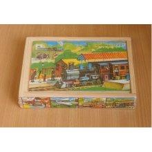 Brimarex Wooden Puzzle Puzzle Train