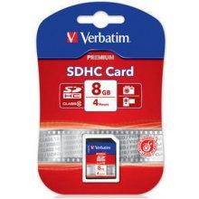 Mälukaart Verbatim SDHC Card 8GB Class 10