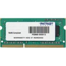 Mälu PATRIOT DDR3 SODIMM 4GB 1333MHz CL9