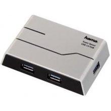 Hama USB-3.0-Hub 1:4 mit Netzteil hõbedane...