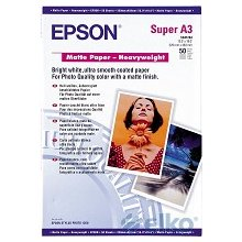 Epson Matte Paper - Heavy Weight A3+, 50...