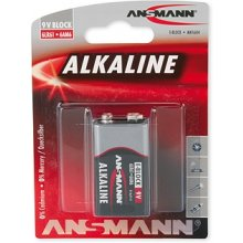 Ansmann 1 Alkaline 9V block punane-line