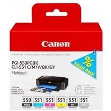 Tooner Canon PGI-550/CLI-551 Multipack...