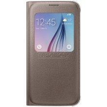Samsung S-View чехол PU für S6 gold