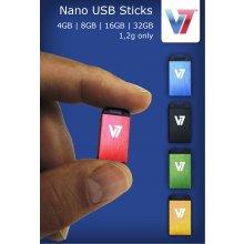 Флешка V7 Nano USB 2.0 4GB, USB 2.0...