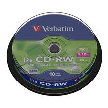 Диски Verbatim CDRW 80MIN 700MB 8-10X