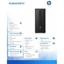 HP ProDesk 600 G1 TWR i3-4160 4GB 500GB DVD...