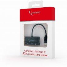 Kaardilugeja Gembird compact USB Type-C SDXC...