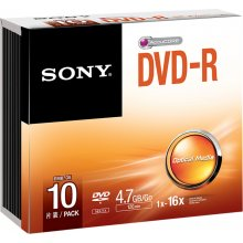 Диски Sony DVD-R 4,7 GB | 16x [Slim чехол 10...