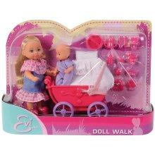 SIMBA EVI koos a pram ja doll, pink