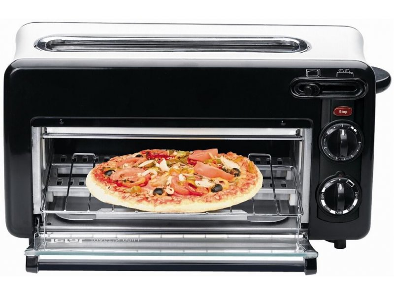 tefal tl6008 toast n grill minibackofen toaster black. Black Bedroom Furniture Sets. Home Design Ideas