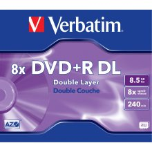 Диски Verbatim DVD+R 8,5GB Jewel (5)