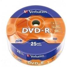 Diskid Verbatim DVD-R 16x 4.7GB 25P SP Matt...