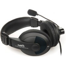 Natec GRIZZLY BLACK-BLUE Headphones +...