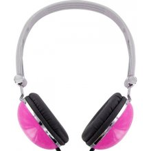 4World stereo headhpones bail pink 06531