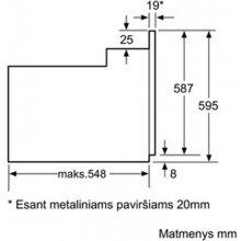 Духовка BOSCH Oven HBA63S251S 63 L...