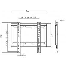 LogiLink TV wall mount, fix, 23-42, max...