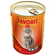 FAVORIT cat can beef liver 415g