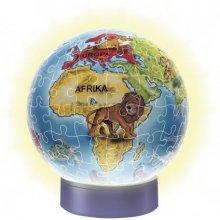 RAVENSBURGER 72 ELEMENTY Podświetlany globus
