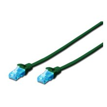 DIGITUS CAT5e U-UTP Patchk.,1m, зелёный