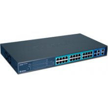 TRENDNET Switch 24-Port 100Mbps PoE 4* Gbit...