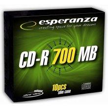Diskid ESPERANZA CD-R hõbedane 700MB x56 -...