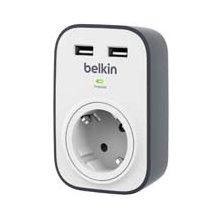 BELKIN SurgeCube koos 2 x 2.4A ühis USB...