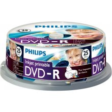 Диски Philips 25 x Printable DVD+R 4.7GB...