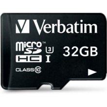 Mälukaart Verbatim microSDHC Pro 32GB Class...
