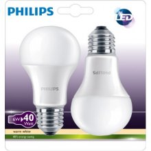 Philips LED Bulb E27 twin pack 6W (40W)...
