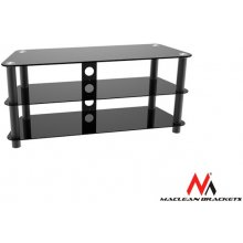 Maclean MC-625 TV table with glass Black...
