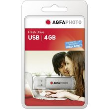 Флешка AGFAPHOTO USB 2.0 серебристый 4GB