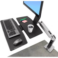 Ergotron WorkFit-A, Single LD @ Worksurface+...