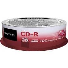 Диски Sony CD-R 700MB/80min (1-48X) 25 pack...