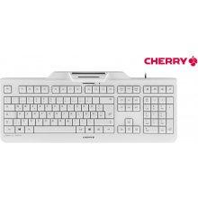 Клавиатура Cherry KC 1000 SC белый-серый