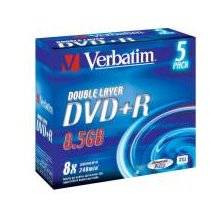 Диски Verbatim DVD+R DL [ 5pcs, 8.5GB, 8x...