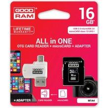 Флешка GOODRAM microSDHC 16GB CL10 + адаптер...