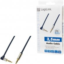 LogiLink - Audio Cable 3.5 Stereo M/M 90°...