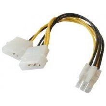 Cabletech 2x4 Pin (Molex) To 6 Pin Pci...