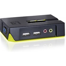 LevelOne 2-PORT USB KVM SWITCH W/AUDIO