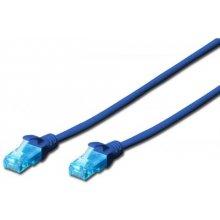 DIGITUS CAT 5e U-UTP patch cable 0.5m blue