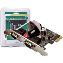 DIGITUS PCI Expr Card 2x D-Sub9 seriell...