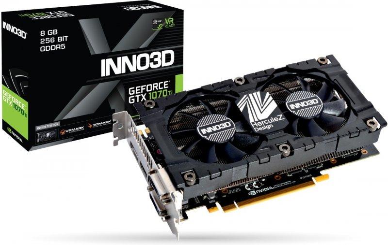 INNO3D GeForce GTX 1070 Ti X2 v2, 8GB GDDR5 (256 Bit), HDMI, DVI, DP