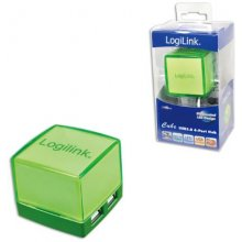 LogiLink Cube Hub зелёный