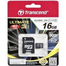 Флешка Transcend память card Micro SDHC 16GB...