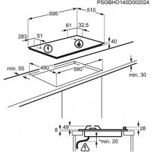 Pliidiplaat ELECTROLUX EGH6342BOX