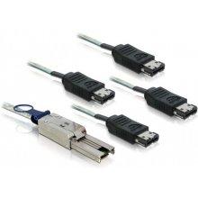 Delock SAS Kabel Mini SAS 26Pin -> 4x eSATA...