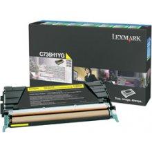 Tooner Lexmark C736H1YG, 10000 pages, Laser...