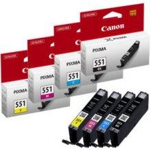 Тонер Canon CLI-551 C/M/Y/BK w/o sec, Black...